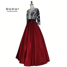 oucui Pearl Decoration Arabic Ball Gown Prom Dress 2019