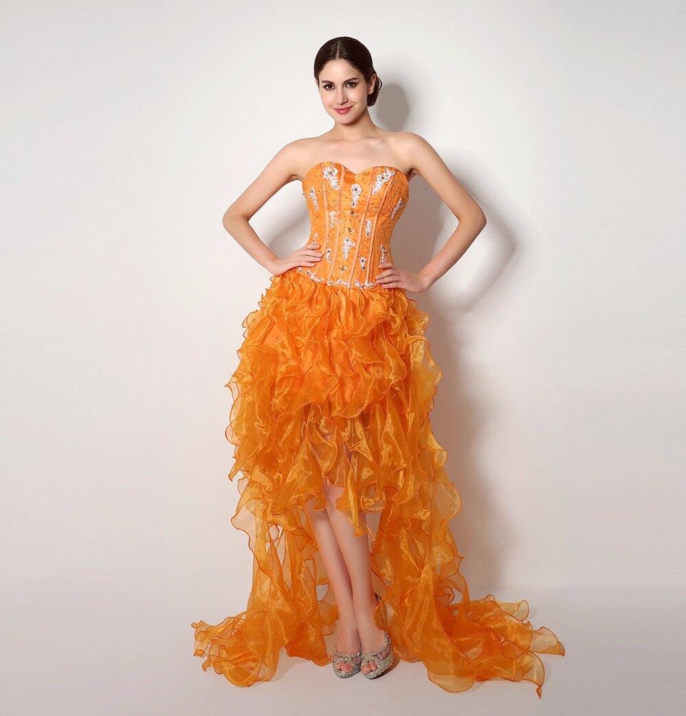 High Quality Short Orange Cocktail Dress-Buy Cheap Short Orange ...