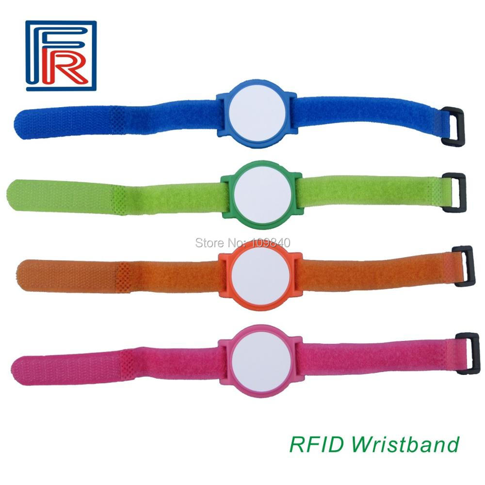 High quality 125KHz RFID Nylon wristband/bracelet with EM chip for access control/Event/E-ticket Read-only 100pcs/lot survival nylon bracelet brown