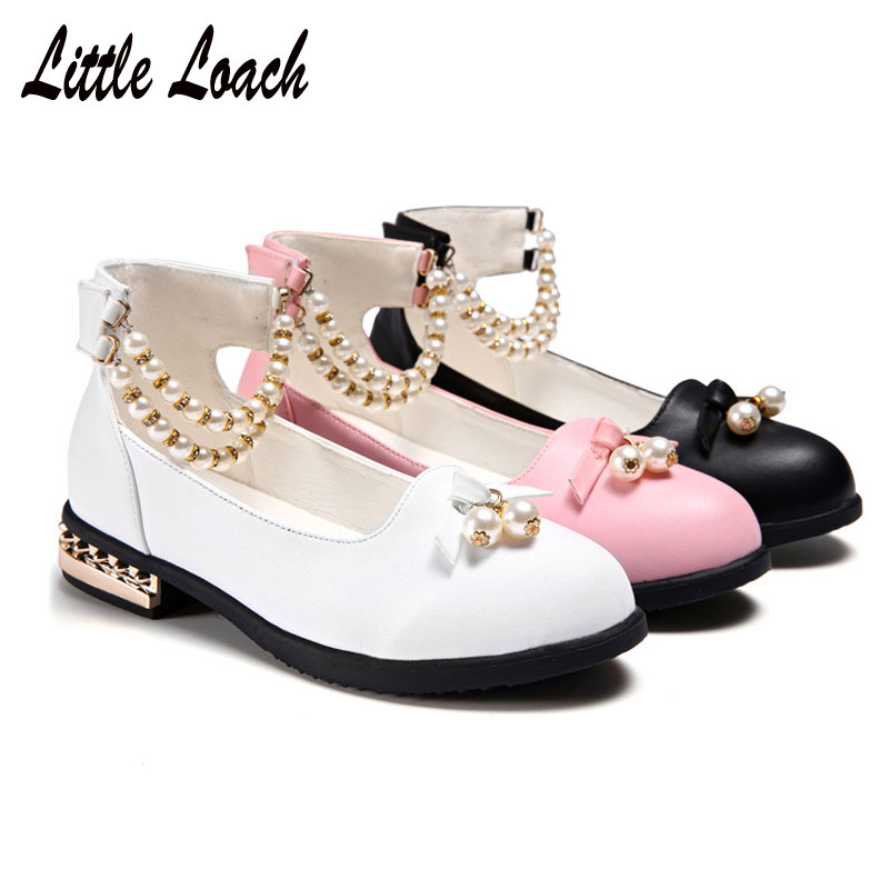Kids Low-heel Shoes Cow Leather Spring Summer Performance Dress Shoes Party Dance Princess Shoes Fashion Sneakers Size 26-37