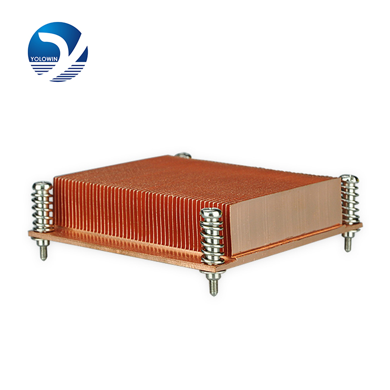 Heatsink Computer Form-relieved tooth Screw and Spring Function radiator 1U passive solution Copper 1u server computer copper radiator cooler cooling heatsink for intel lga 2011 active cooling