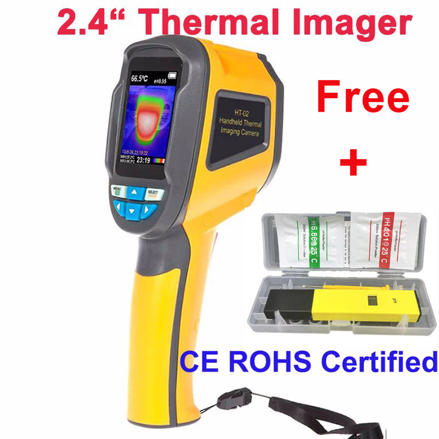HT-02 Thermal Imaging Macchina Fotografica Portatile Telecamera Termica, termocamera IR A Raggi Infrarossi telecamera termica 2.4 pollice di Colore di visualizzazione dello schermo