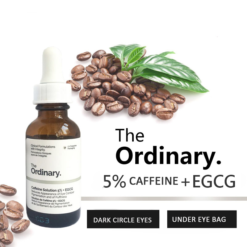 The Ordinary 5% Caffenie + EGCG Eye Serum Eliminate Best Eye Cream For Wrinkles Dark Circle Puffiness