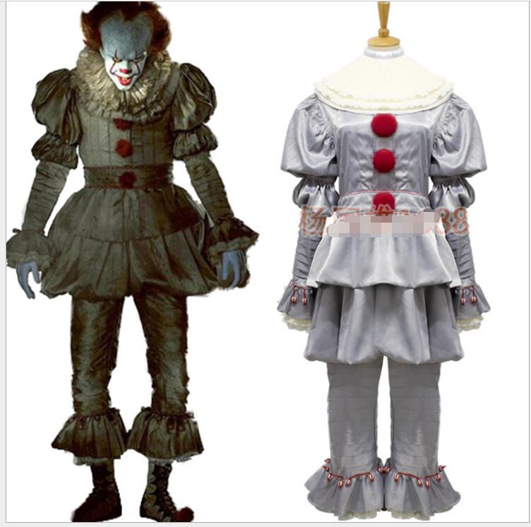 Stephen Kings It Pennywise Cosplay Costume Adult Unisex Women Clown Costume Suit Custom Made Fancy Halloween Terror Costume Pleasant To The Palate Novelty & Special Use