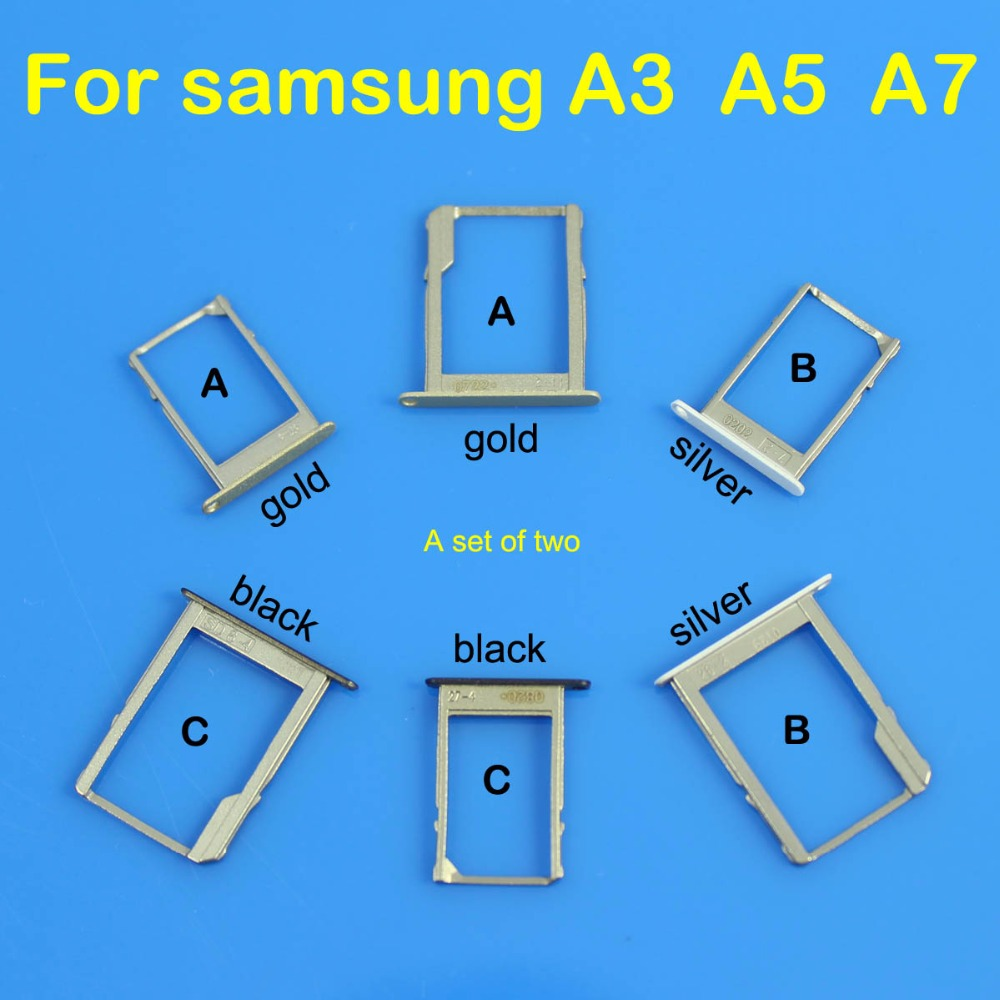 cltgxdd SIM Card Slot Holder for Samsung Galaxy A3 A5 A7 Micro SD Card Slot Tray Socket Adapter Replacement Parts