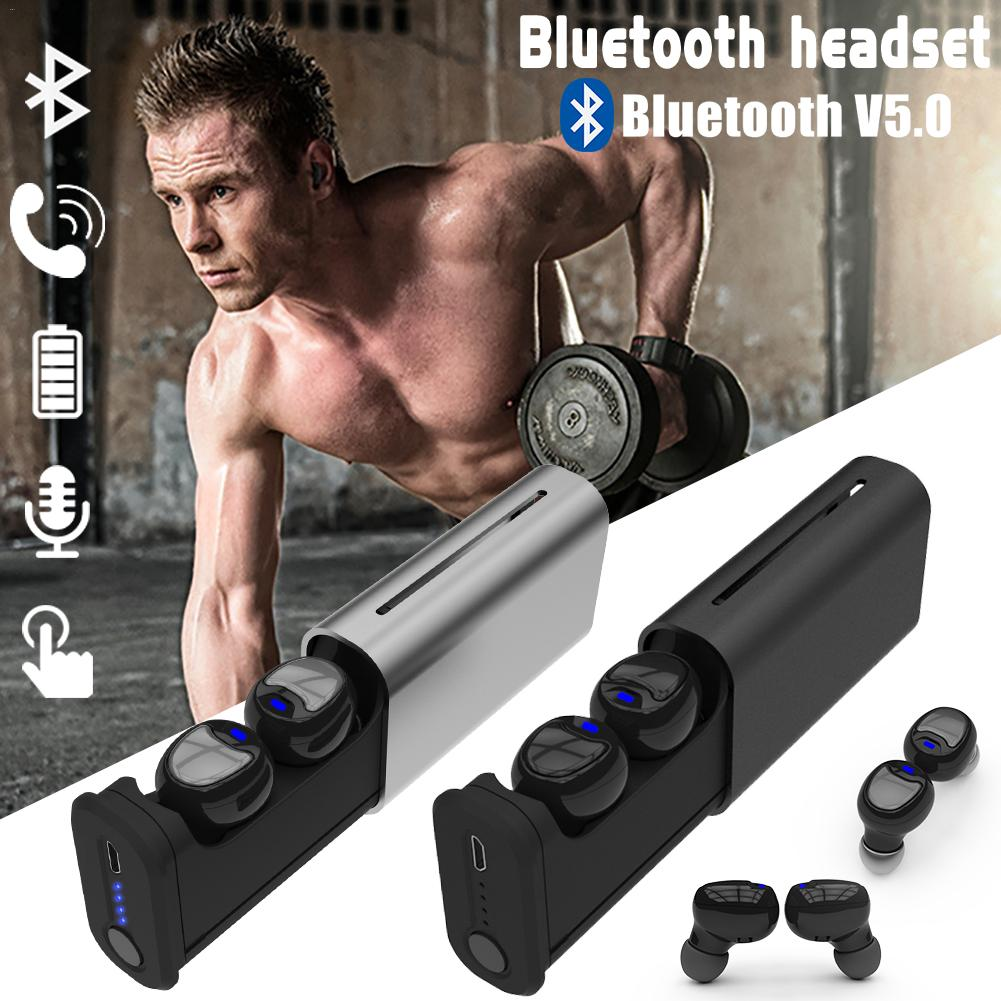 New 5.0 Fully Automatic In-Ear Wireless Mini Bluetooth Headset Stereo TWS Sports Earphone headset G1 tritton kama stereo headset