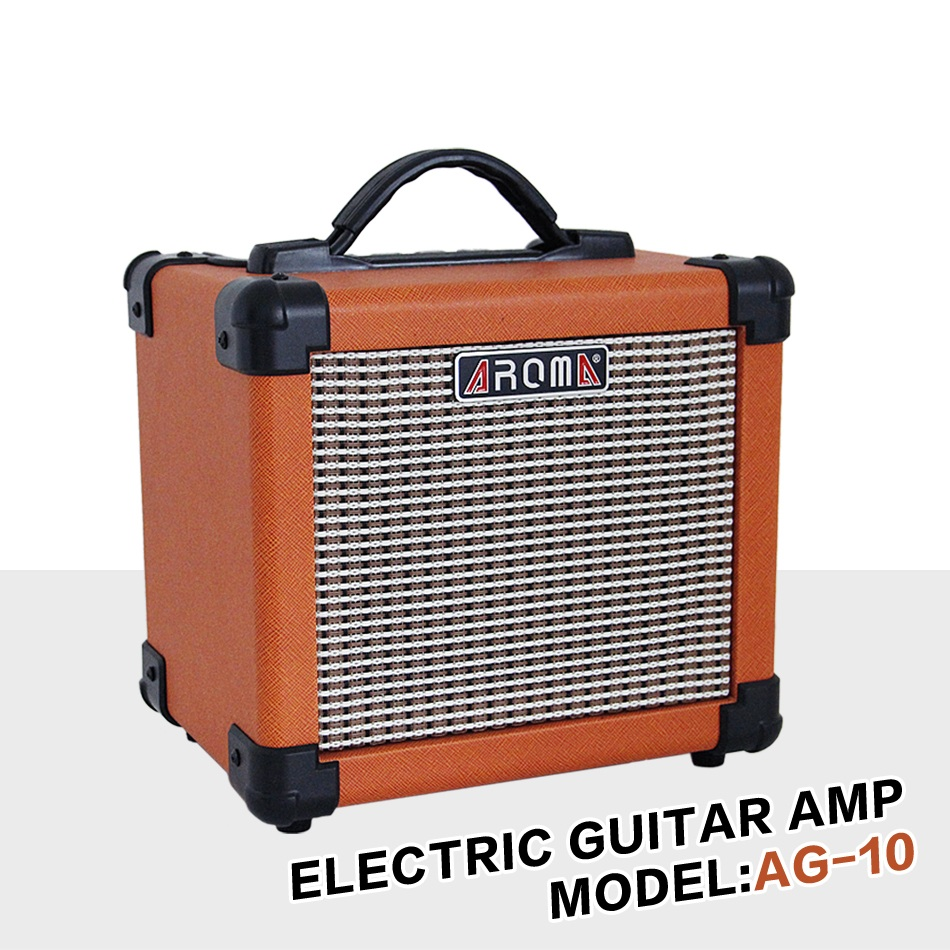 aroma ag 10 electric guitar amp amplifier loudspeaker box audio amplifer with gauge audio cable. Black Bedroom Furniture Sets. Home Design Ideas