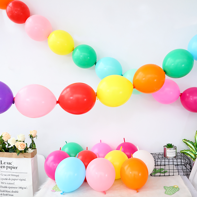 50pcs lot 6 inch Link balloons Wedding Party Decorations tail ballon Home Garden Event Party Supplies Marriage room decor in Ballons Accessories from Home Garden