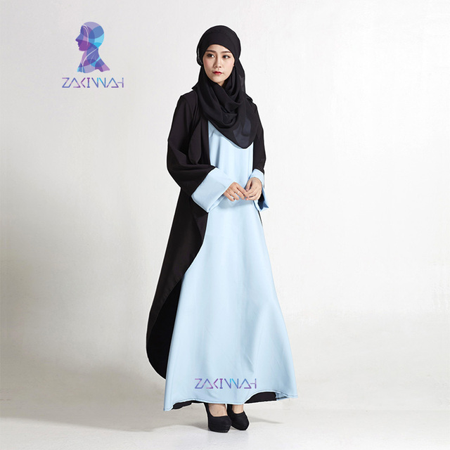 New Fashion Black Women Sleeves Muslim Dress Kaftans Plus Size Dubai Abaya Islamic Clothing