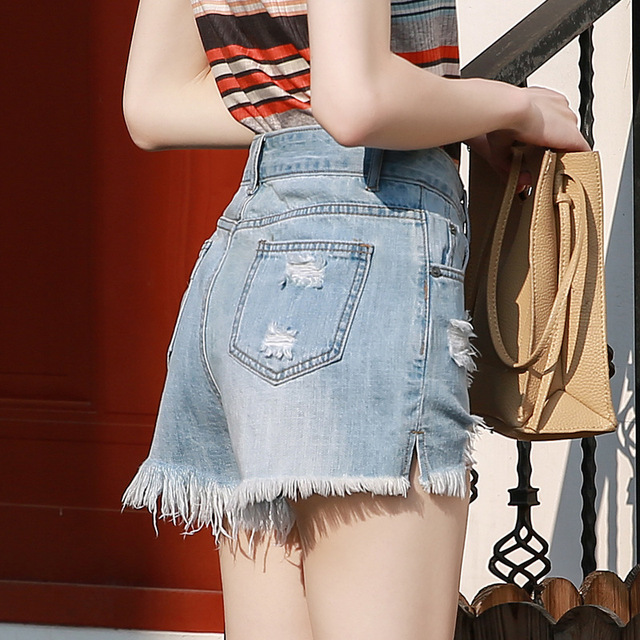 Women summer sexy shorts Euro Style high waist Denim Shorts Jeans mini Short Street Wear korean fashion plus size women clothe 2