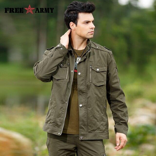7076170f310 Куртка пальто для Для мужчин Горячая Мода Для мужчин s джинсовые куртки  воротник стойка заклепки Армейский