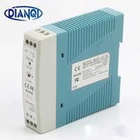 DIANQI MDR-10 12V 5V 15V 24V 36V 48V 10W Din Rail power supply ac-dc driver AC/DC wide constant voltage LED strip 110V 220V