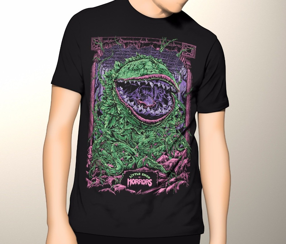 Printed T Shirts Mens StreetwearNEW! Little Shop of Horrors T-shirt S-5XL-3XLT Printed t shirt Men t shirt Casual Tops