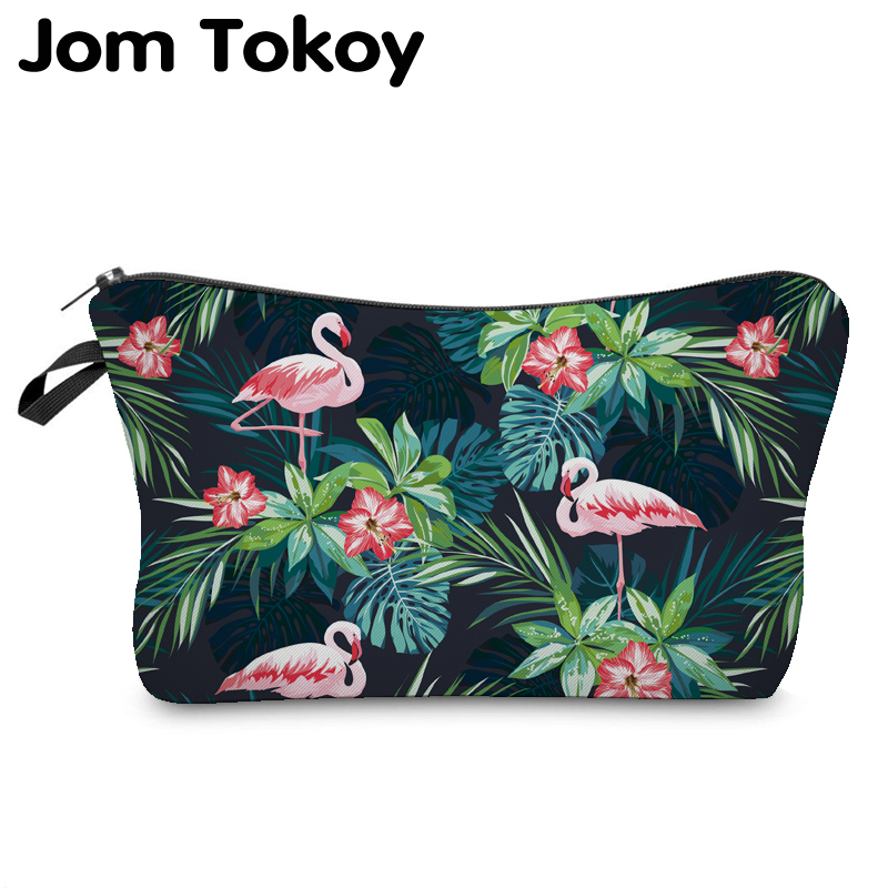 Jom Tokoy 2019 Cosmetic Organizer Bag Make Up Heat Transfer Printing Cosmetic Bag Fashion Women Brand Makeup Bag Hzb914