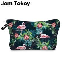 Jom Tokoy 2019 Cosmetic Organizer Bag Make Up Heat Transfer Printing Cosmetic Bag Fashion Women Brand Makeup Bag Hzb914 jom tokoy 2018 3d printing unicorn cosmetic bag fashion women brand makeup bags