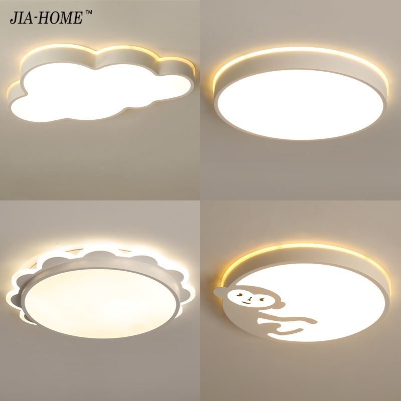 cloud sun monkey round lampshade led Ceiling Lights for child room bed room dimmable with remote