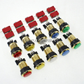 10x Gold plated LED Illuminated Push Buttons For Arcade Games Machine DIY Kits Parts Mame Jamma