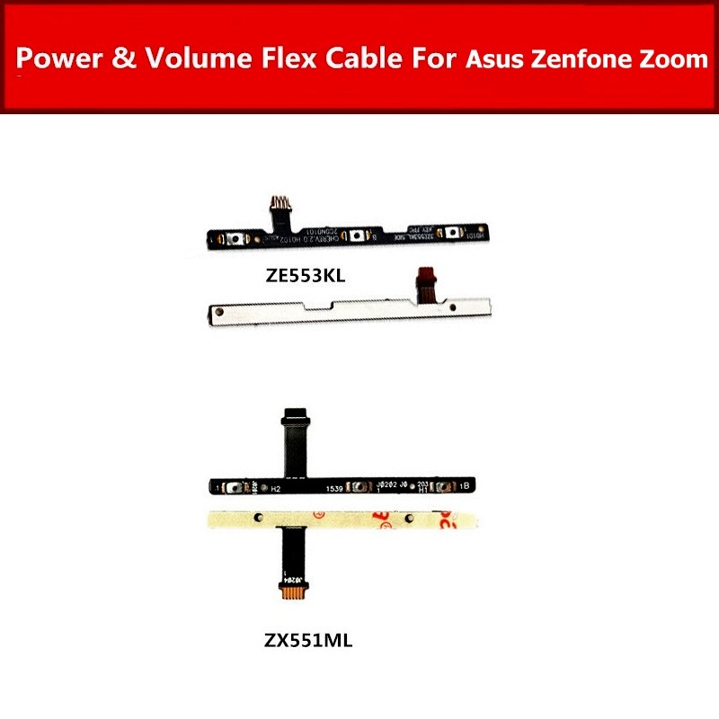 On Power Flex Cable For Asus Zenfone 3 Zoom ZE553KL Z01HD Volume Button Flex Ribbon For Asus Zoom ZX550ML ZX551ML Switch Button