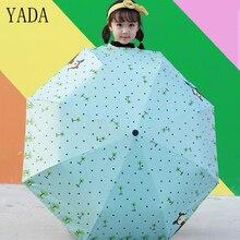 YADA Cartoon Fawn Three Folding Umbrella Rain Women Automatic Brand For Girls UV High Quality Windproof Umbrellas YS097