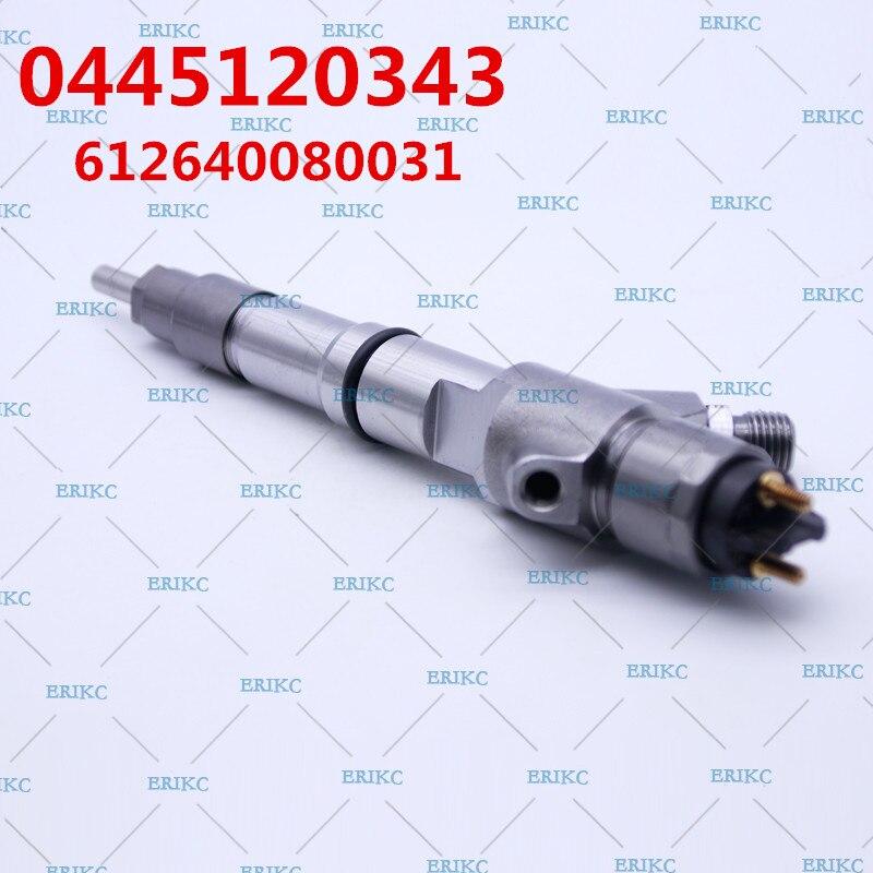 ERIKC 0445 120 343 Injection de pompe à carburant 0445120343 Auto injecteur de carburant 0 445 120 343 612640080031 injecteur de commande de moteur Diesel