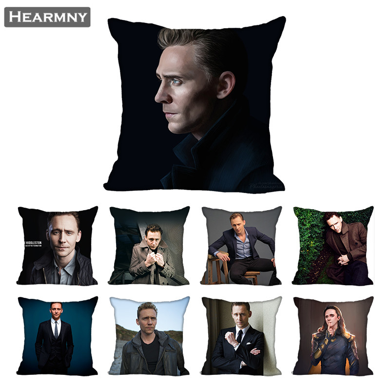 Tom Hiddleston Pillow Case For Home Decorative Pillows Cover Invisible Zippered Throw PillowCases 40X40 45X45cm