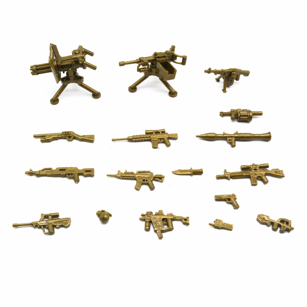 Koolfigure Custom Bronze Color Weapon Accessories for Military Figures,3rd Party Designe ...
