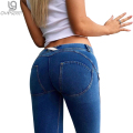 Slim thin hip pants pants feet code size women's leggings Jeans Pants Bodybuilding Push Up Leggings Size code HY004