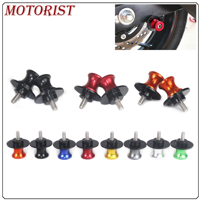 M6 Motorcycle accessories Swingarm Spools slider stand screw 6mm for <font><b>yamaha</b></font> YZF <font><b>R6</b></font> 1999 <font><b>2000</b></font> 2001 2002 2003 2004 2005 2007 -2017 image