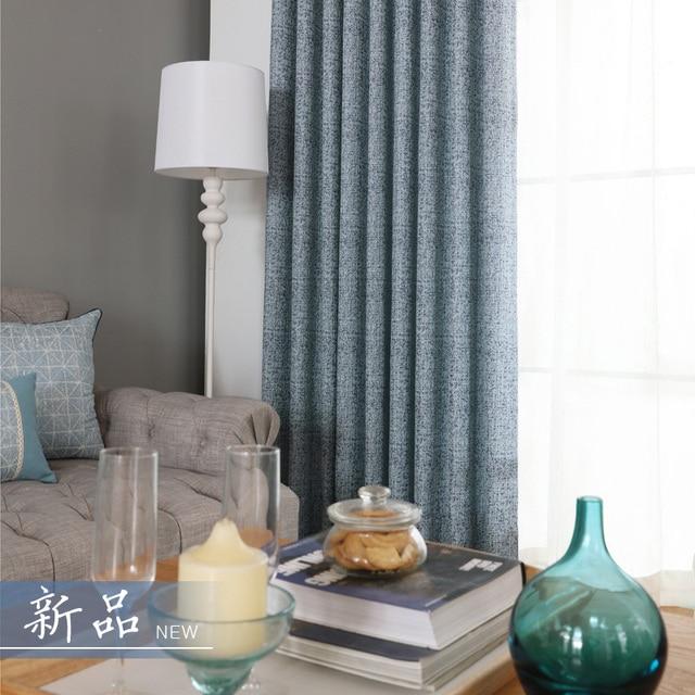 Jacquard Blackout Vorhange Fur Wohnzimmer Blau Vorhange Fur