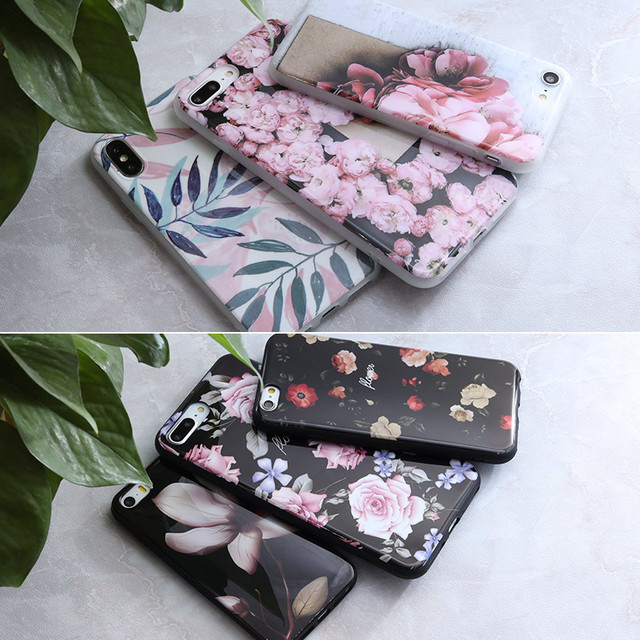 SoCouple For iphone 5s 5 SE 6 6s 8 6/7/8 plus X Granite Scrub Marble Stone image Painted Silicone Phone Case For iphone 7 case 5