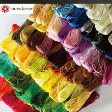 Снеговик, рукоделие вышивка 1,2 м разноцветная опция DMC893-926 10 шт./партия вышивка крестиком хлопковое шитье, моток пряжи вышивка нить