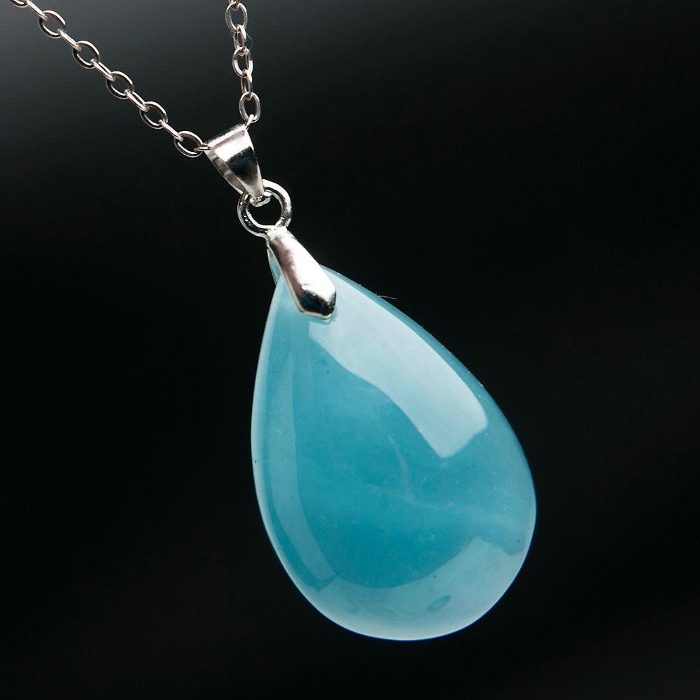 Anhänger Top Qualität Natürliche Blaue Aquamarin Kristall Edelstein Klar Anhänger Ozean Aquamarine 27x18x11mm Reiki Frau Drop Verschiffen Aaaaa