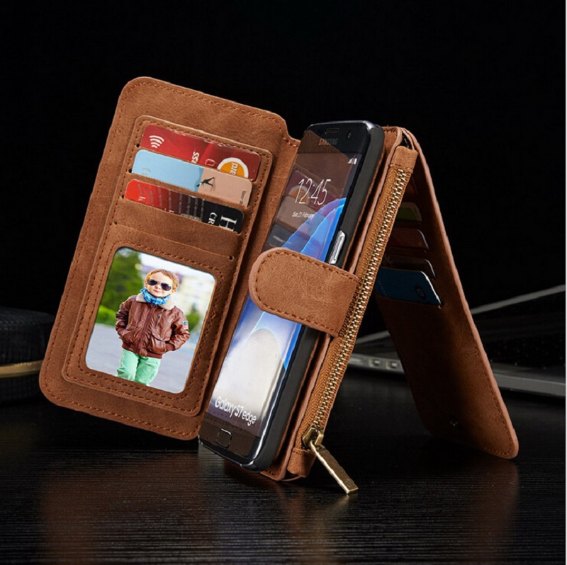 Multifunction Phone Bag Cases For Samsung Galaxy S7 S6 Edege Plus NOTE 5 Wallet Leather