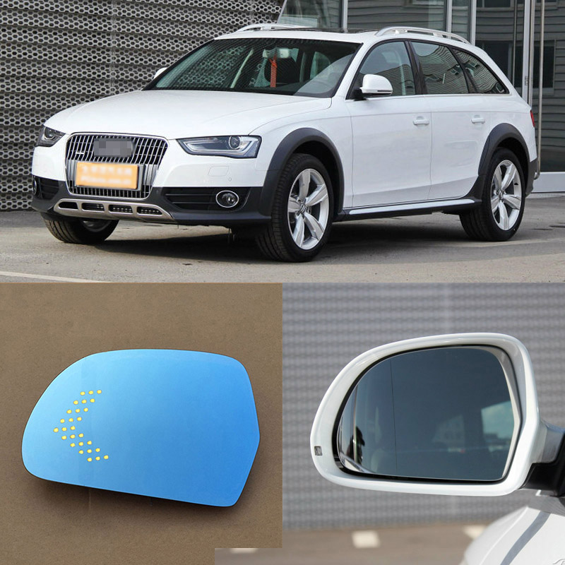 For Audi A4/A5 Brand New Car Rearview Mirror Blue Glasses LED Turning Signal Light with Heating for volkswagen sagitar brand new car rearview mirror blue glasses led turning signal light with heating