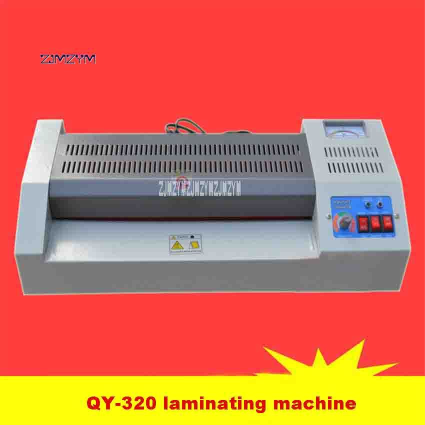 110V/220V QY-320 Laminating Machine Home Office A3 Photo A4 Metal Case Laminator 600W 320mm 420mm/min 4-6min 75-200mic Hot Sale a3 photo laminator office hot