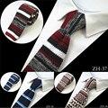 2016 Nuevo Diseño De Moda De Punto Corbata Para Los Hombres de Punto Delgado Cravate Corbata Flaca Estrecha Corbatas Para Los Hombres de Traje de Fiesta de La Boda