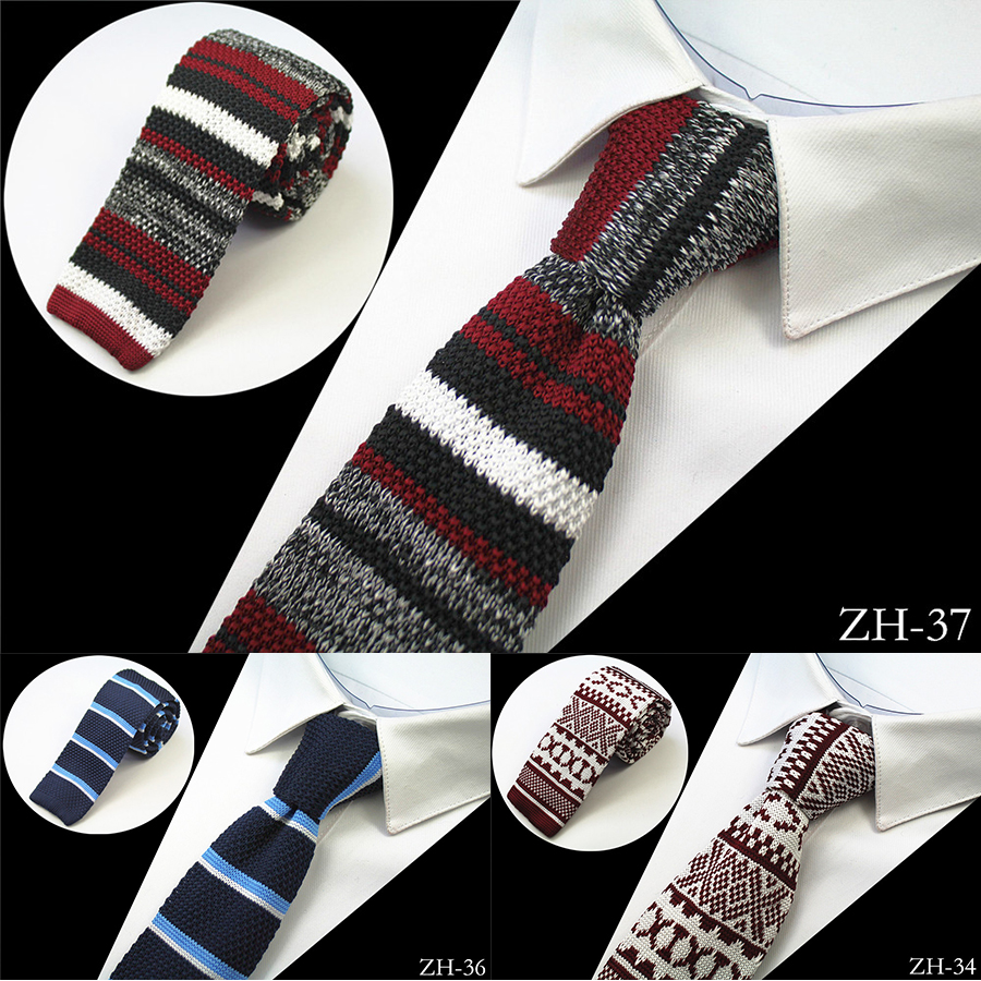 Ricnais Brand New Design Mode Strick Krawatte für Männer Schlank Gestrickte Krawatten Cravate Schmale Dünne Krawatten Für Männer Hochzeit