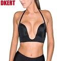 DKERT New Fashion Deep Plunge U Women Bras Underwear Sexy Seamless Adjustable Convertible Straps Sutian For Wedding Dress