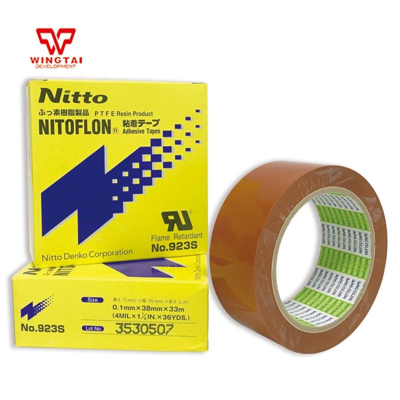 Nitto Tape 923s 3 pcs/lot T0.10mm*W38mm*L33m Good Price Japan Nitoflon PTFE Resin Product Adhesive Tapes 3 pcs lot nitoflon adhesive tapes 923s t0 10mm w50mm l33m