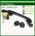 Car Black Front Door Handle with 2 lock keys For VW Jetta 1994-1999 /Golf 1994-2002 /Cabrio 95-99 MK3  1H0837207 (Right = Left)