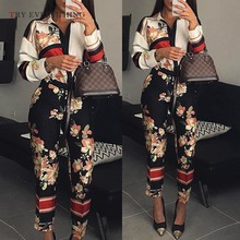 Floral Boho Jumpsuit Women Summer 2019 Fashion Shirt Sexy Trousers Female Patchwork Long For Womens Rompers