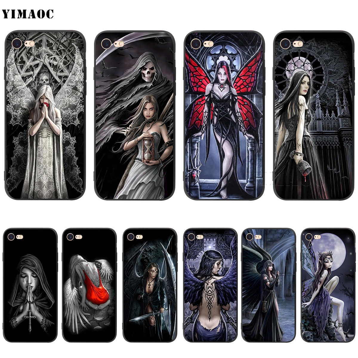 YIMAOC Anne Stokes Gothic Soft Silicone Case for iPhone 5 5s SE 6 6s 7 8 Plus X
