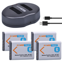 4Pcs 1800mAh NP BG1 NP BG1 NPBG1 Camera Battery + Dual USB Charger for SONY HX10 W30 W210 W100 W110 W120 H50 H55 H70 HX9 T20