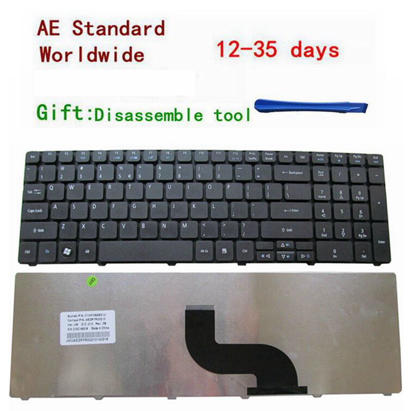 New laptop US Keyboard for Acer Aspire 5733 5250 5253 5349 5560 5560G 5733Z 7250 7552 7739 7739G 7739Z 7739ZG 7750 7751 7751G new us keyboard for acer aspire vn7 793g vx5 591g vx5 591g 52wn us laptop keyboard with backlit