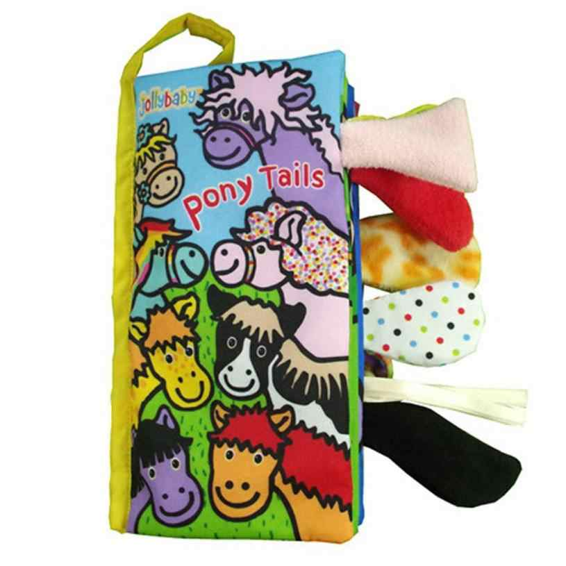 Детские хвосты животных Книга из ткани для детей игрушка ткань книги по развитию учебники 17 Aug