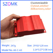 4 psc a lot aluminum extruded enclosures box equipment case electrical enclosure projectionenclosure 29*83*129mm