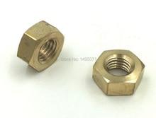 500pcs/Lot Metric DIN934 Brass Hex Nut M2.5 Hexagon Nut Screw Nut