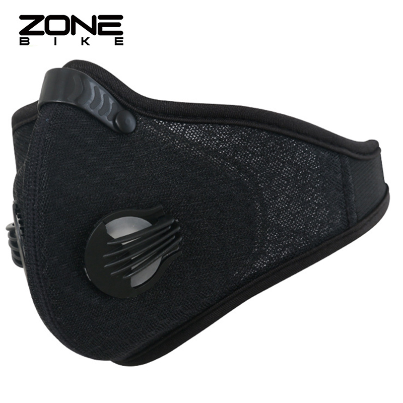 ZONEBIKE Nylon Bike Mask Filter Cycling Facemask Anti-pollution Bicycle Half Face Shield Breathable Dustproof Maske