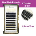 1 Tray/lot 100% Real Mink Eyelash Individual Eyelash Extension Korea False Eyelash Faux Cils Natural 9mm-13mm