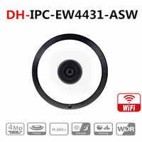 Dahua IPC-EW4431-ASW 4MP kamera szerokokątna Panorama 180 stopni wbudowany mikrofon gniazdo kart sd alarm dźwiękowy interfejs POE kamera wifi